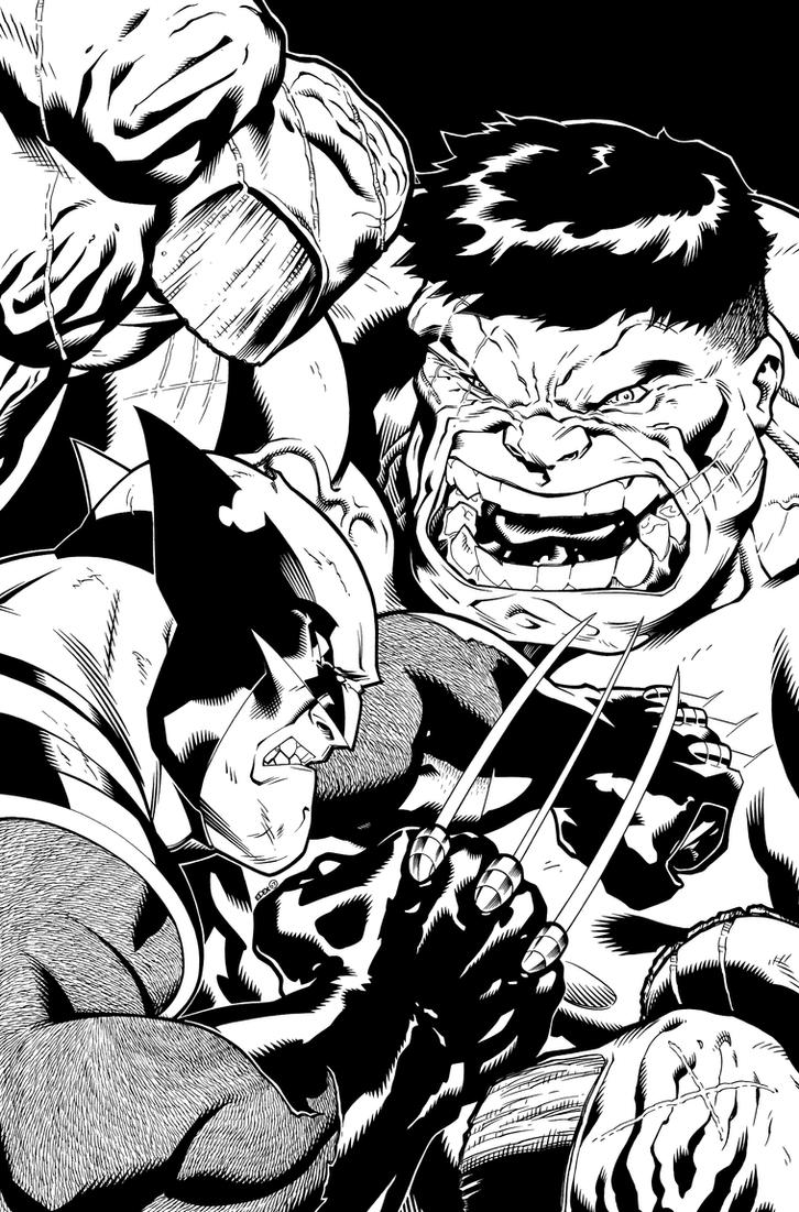 World War Hulk Xmen Cover 2. by DexterVines