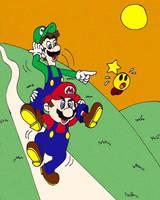 It's Mario, Luigi and Starlow by wackko200