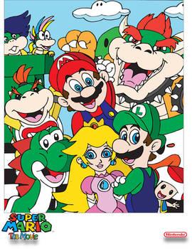 A Super Mario movie poster
