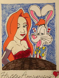 Roger Rabbit and Jessica Rabbit (commission)