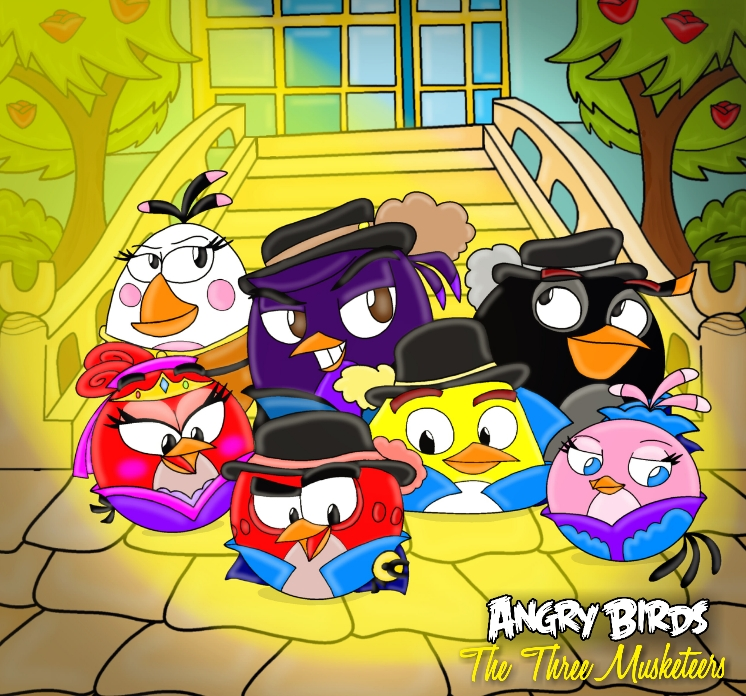 Angry birds the three musketeers cover by oceanegranada on - Angry birds trio ...