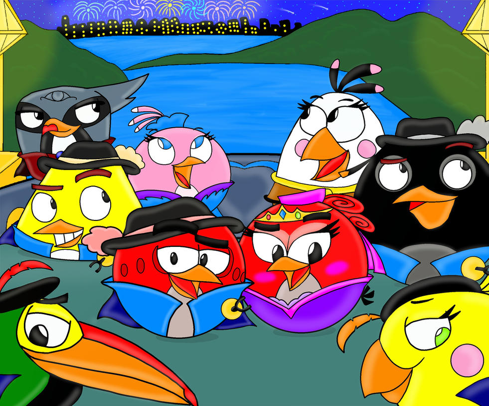 Ab the three musketeers cast wallpaper by oceanegranada on - Angry birds trio ...