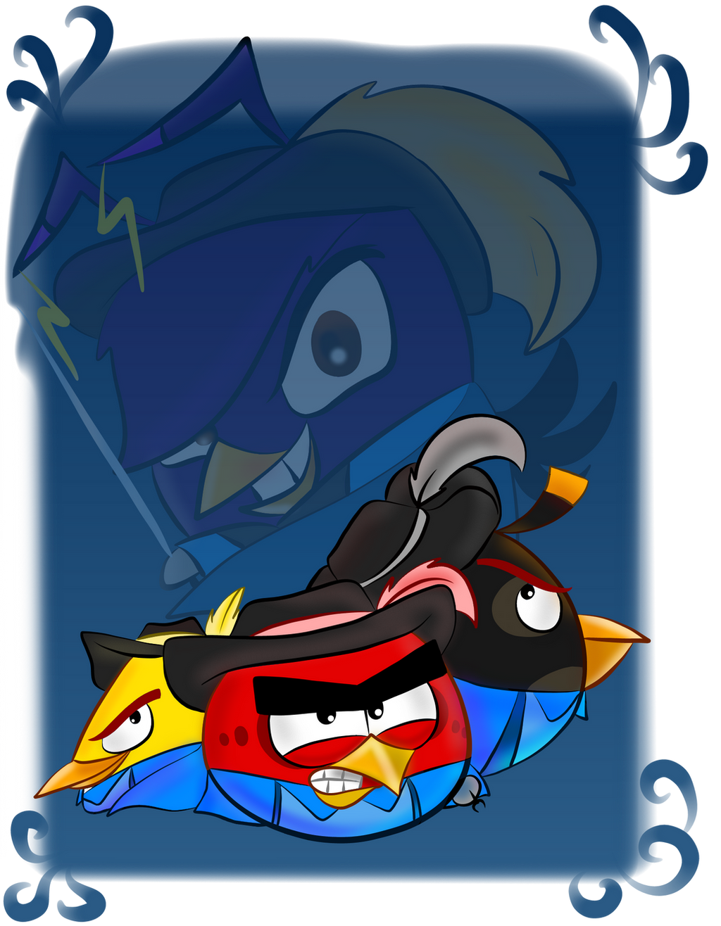 Angry birds the three musketeers by oceanegranada on - Angry birds trio ...