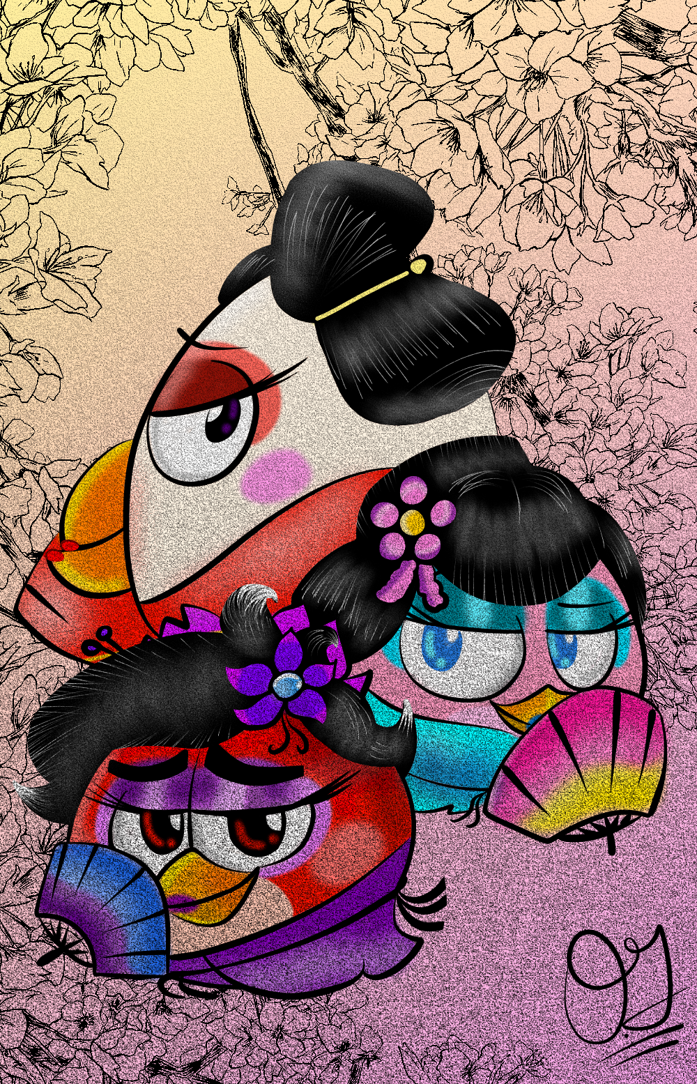 Angry birds favourites by inmrmenshow on deviantart - Angry birds trio ...