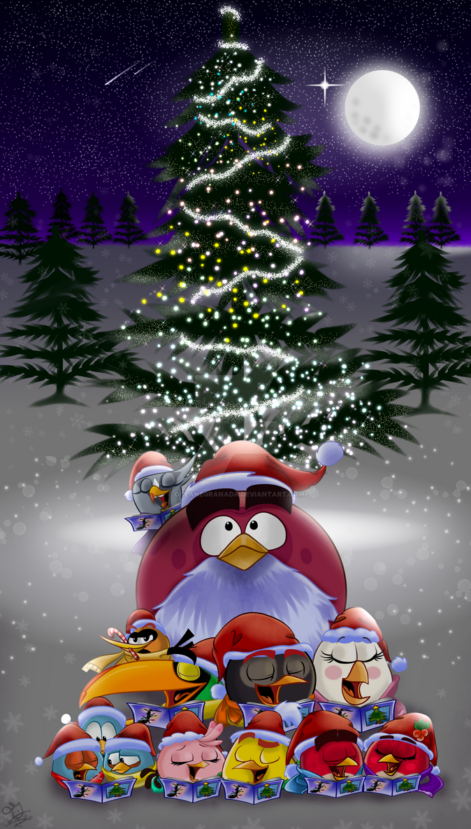 angry birds christmas 2016 by oceanegranada - Christmas Angry Birds