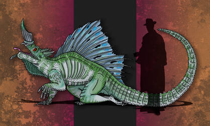 Dinovember Day #12 - Transitional Tyrant