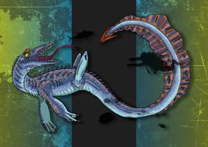 Dinovember Day #15 - Long-Tailed Sea Tyrant