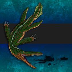 Dinovember Day #16 - Short-Tailed Sea Tyrant