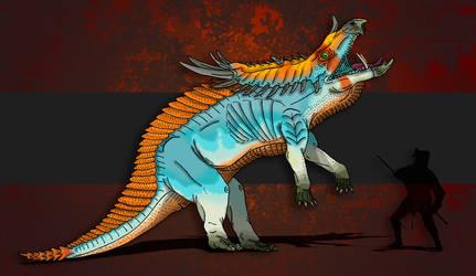 Dinovember Day #13 - Horned Goliath