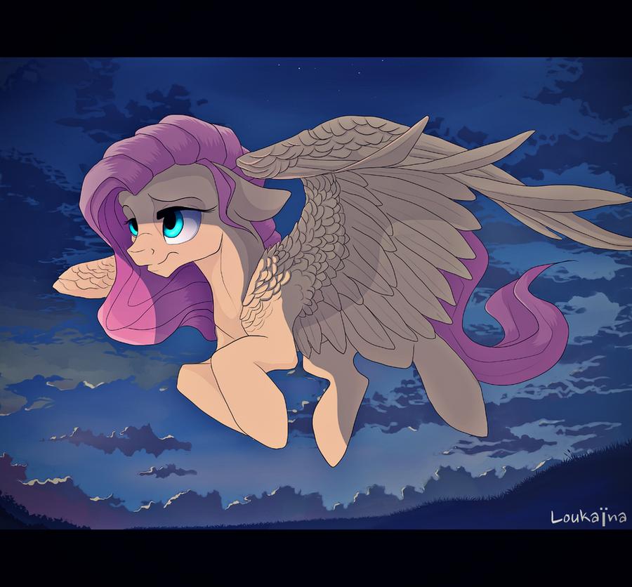 Fluttershy by Loukaina