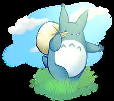 Chuu Totoro ghibli fanart by tamideer