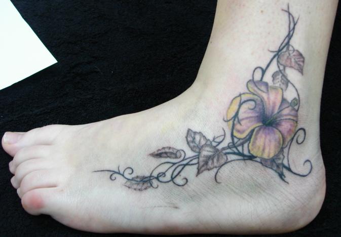 tribal flower - flower tattoo