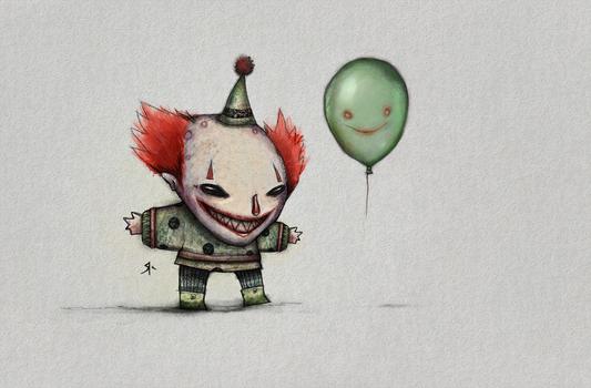 Clown and Balloon