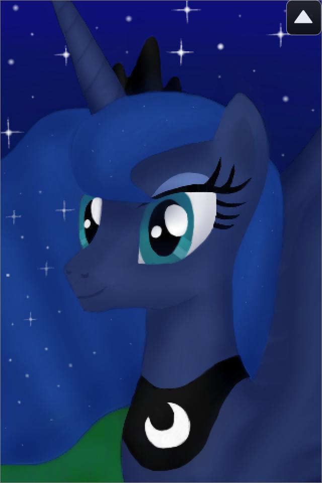 DrawCast Painting - Princess Luna by Daedric-Pony