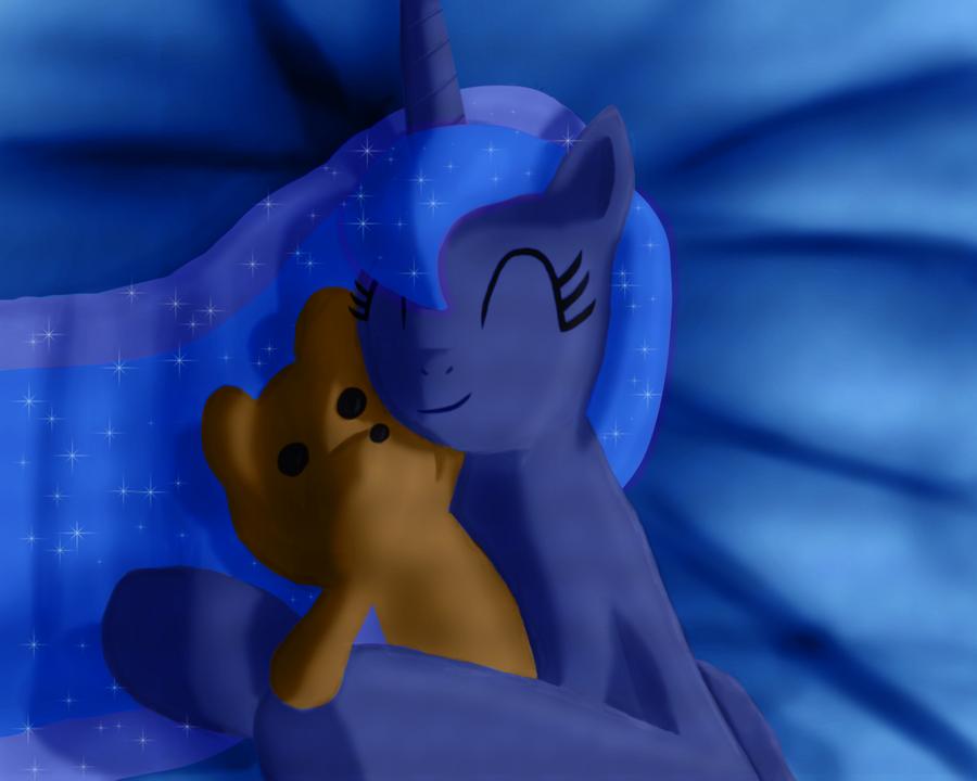 Luna's Teddy Bear by Daedric-Pony
