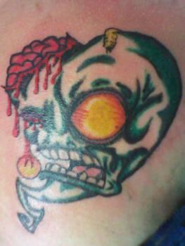 New Zombie Heart Tattoo
