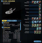 (Star Trek Online) - USS Accuris, Further Stats