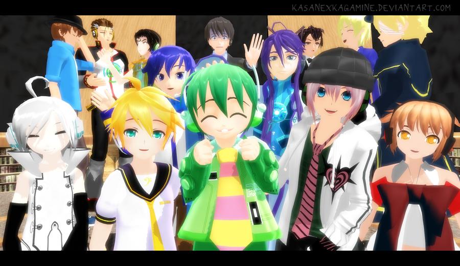 image Mmd vocaloid crew dance