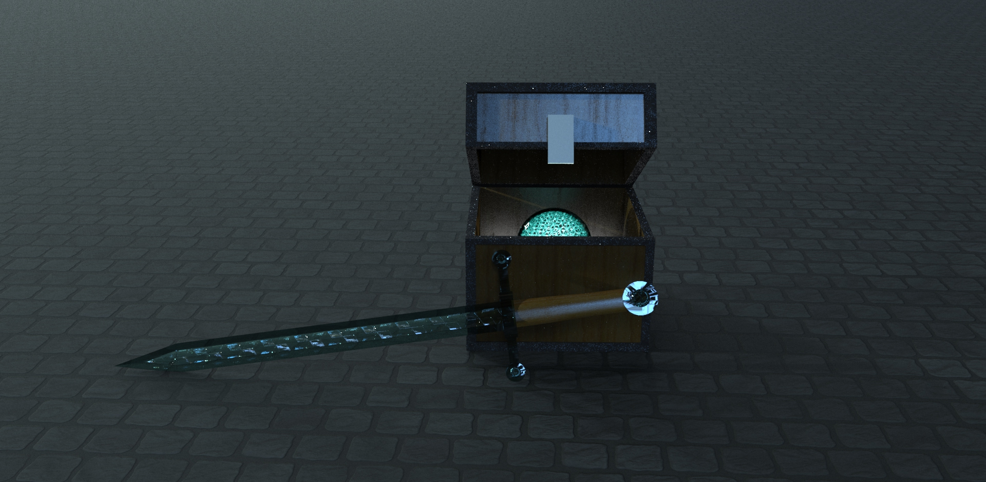 real minecraft chest with ender ball and sword by Bull3tModz on ...