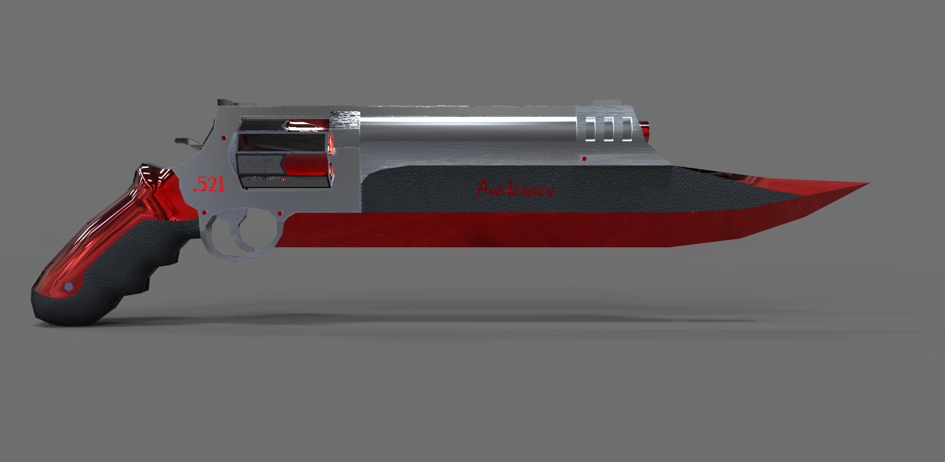 Création d'une Arme - Page 18 Gun_blade_dl__my_render_by_bull3tmodz-d6juhv6