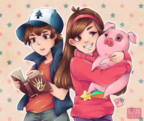 Gravity Falls by Vilyann