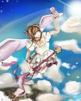 Sakura over the skies by EmyKitteh