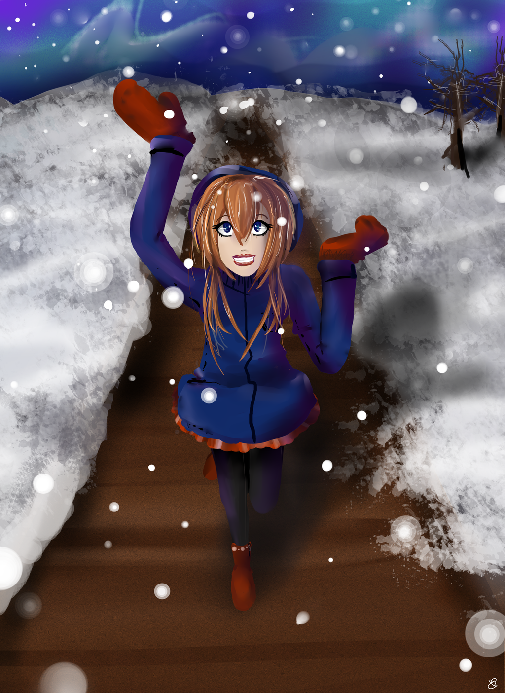 Let it snow by EmyKitteh