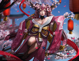 Onmyoji Momo by Whails