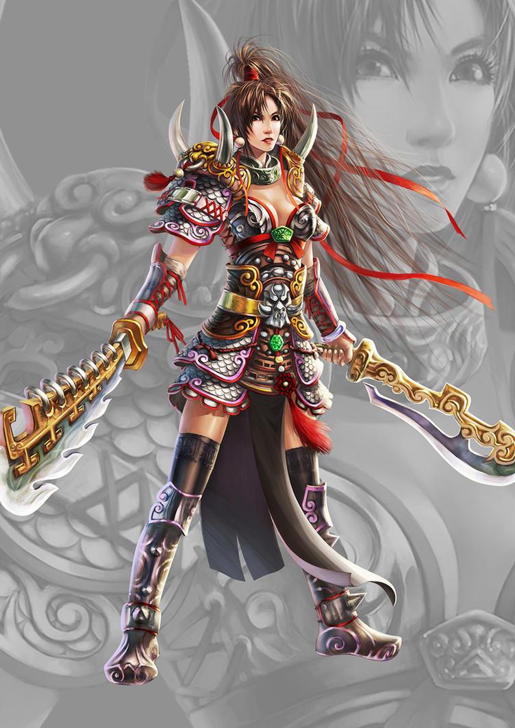 Warrior girl by ilison