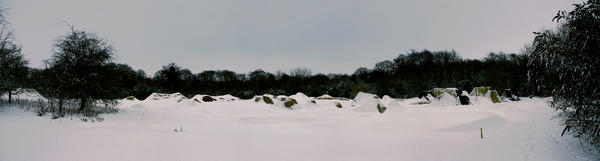Snow Trails Pano2 by Jontain