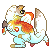 Pixel Icon contest entry ,{chubby guppy}, by NinGeko