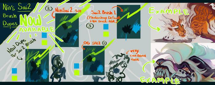 NinGeko Sai2 Brush Dupe for CSP + Photoshop