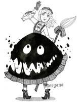 Inktober 9 - Lolita Witch by morganadulac