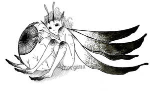 Inktober 13 - Pixie Sprite by morganadulac