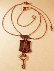 Lock 'n Key steampunk necklace