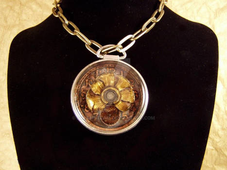 A Bullet Sits Atop It - pocket watch pendant