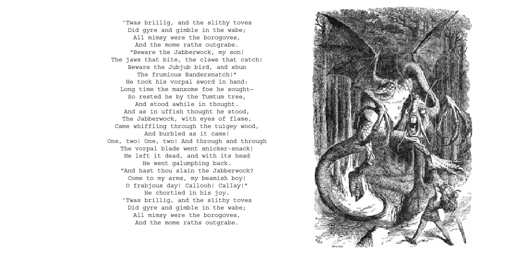 The Jabberwocky Poem By Dreamswolf On Deviantart
