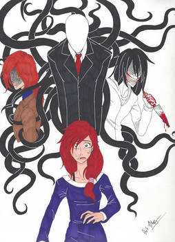 Creepypasta Comic Cover (Art by BakaAndTensaiArt)
