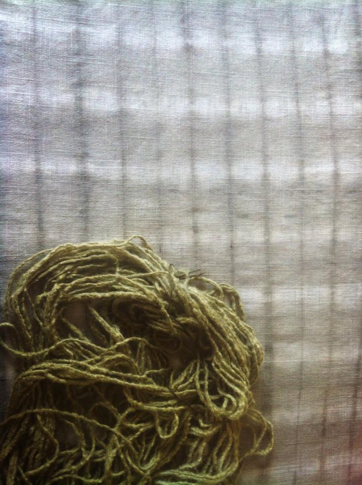 Birch leaf plant dyed fabric and wool by NoctiLuna