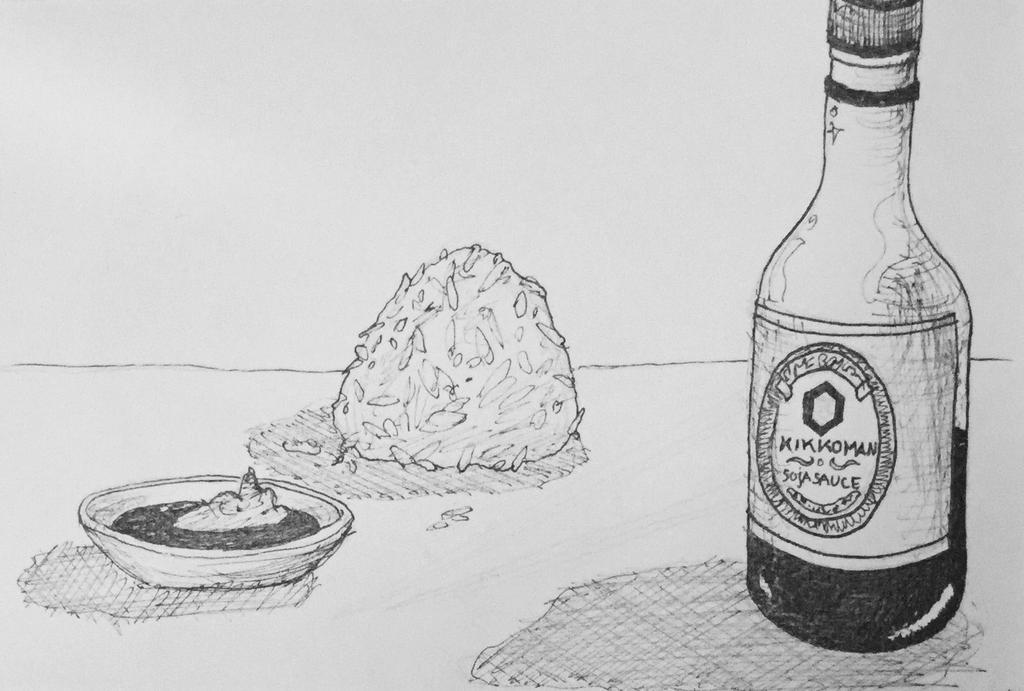 Inktober Onigiri by NoctiLuna