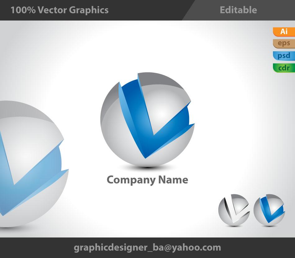 3D Logo, 3d style, V l...Y Logo 3d