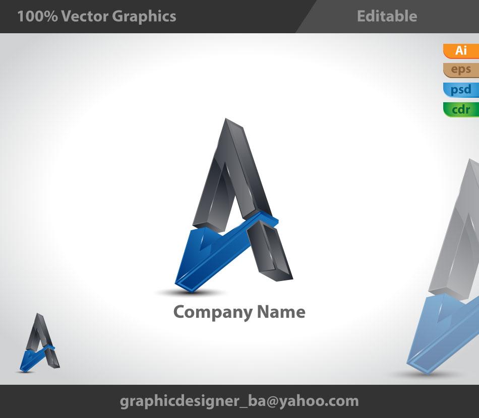 3D Logo  3d styl...K Logo 3d