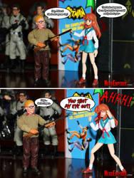 Mikuru Shoots Her Eye Out