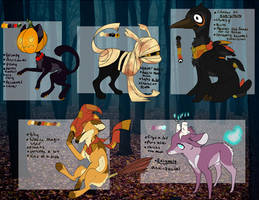 Halloween Adopts -CLOSED by Fawnd