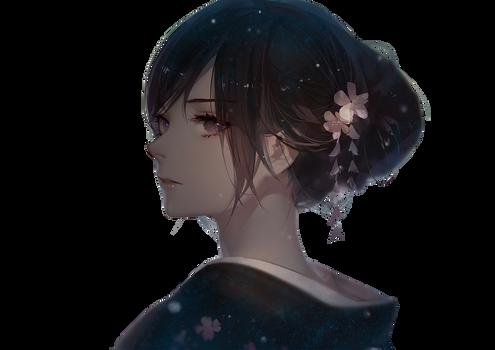 [9] Anime Sad Girl Render