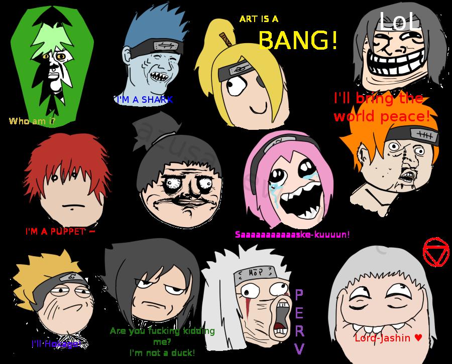 Rage meme naruto by hagazusa