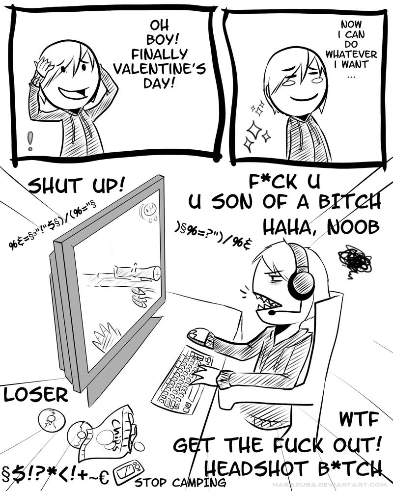Forever alone - Valentine's day by Hagazusa