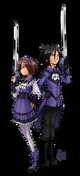 FlareShard's Kaoru and Yuuto by DeviantMG