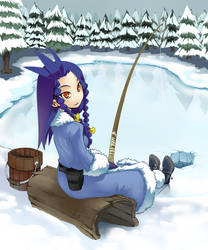 Ocean goes ice-fishing by DeviantMG
