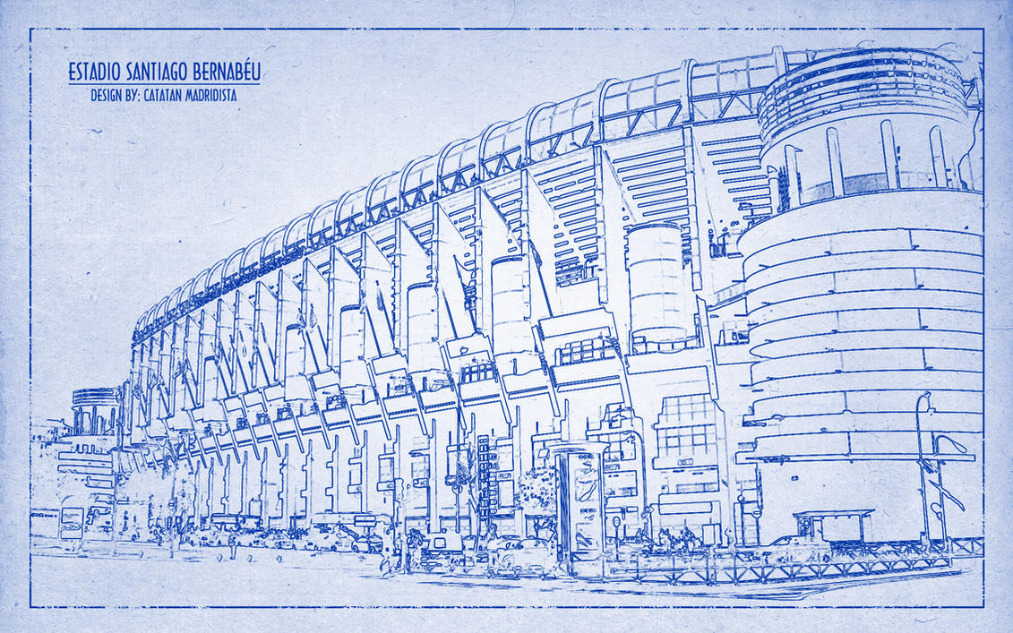 Santiago Bernabeu Hd Wallpaper Blueprint By Cm By